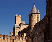 Carcassonne Prints - Carcassonne Castle Print by Joe Bonita