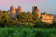 Castle Photos - Carcassonne Dawn by Brian Jannsen