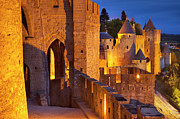 Roussillon Framed Prints - Carcassonne Ramparts Framed Print by Brian Jannsen