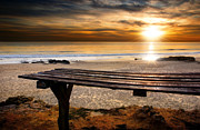 Sun Ray Prints - Carcavelos Beach Print by Carlos Caetano