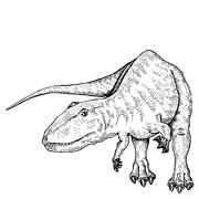 Carcharodontosaurus - Dinosaur Print by Karl Addison