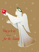 Season For Blessings Card Posters - Card Of Wishs Poster by Debra     Vatalaro