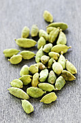 Fresh Food Prints - Cardamom seed pods Print by Elena Elisseeva