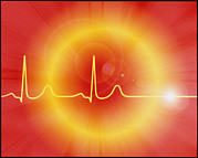 Arrest Photo Prints - Cardiac Arrest: Artwork Of A Dying Ecg Heart Trace Print by Mehau Kulyk