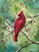 Cardinal Print by David G Paul