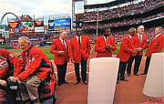 St. Louis Cardinal Baseball Prints - Cardinal Hall of Famers - 2012 Print by Barbara Plattenburg