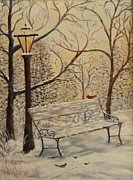 Cardinal In The Snow Print by Douglas Ann Slusher