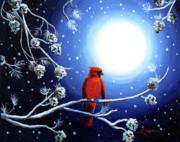 Laura Iverson - Cardinal on Christmas Eve