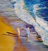 Walking On Water Paintings - Carefree by Elisa Gabrielli