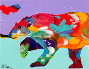 Polar Bears Paintings - Careful Where You Tread by Tracy Miller