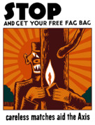 Cigarettes Posters - Careless Matches Aid The Axis Poster by War Is Hell Store