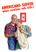 United States Government Posters - Careless Talk Kills Poster by War Is Hell Store