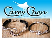 Sterling Silver Bracelet Art - Carey Chen Jewelry by Carey Chen