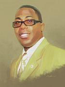 Carey Muhammad Paintings - Carey Muhammad Self Portrait by Carey Muhammad