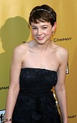 Strapless Dress Prints - Carey Mulligan Wearing A Nina Ricci Print by Everett