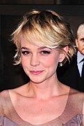 Gold Earrings Acrylic Prints - Carey Mulligan Wearing Fred Leighton Acrylic Print by Everett