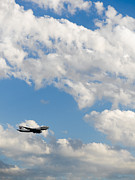 Air Travel Photos - Cargo Jet in Flight by Tim Hawley