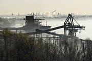 Conveyor Framed Prints - Cargo Ship and Coal Conveyor Framed Print by Jeremy Woodhouse
