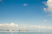 Seagoing Prints - Cargo Ships on the Water Print by Eddy Joaquim