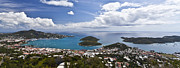 Panoramic Ocean Framed Prints - CARIB0008 St Thomas US Virgin Islands Framed Print by Steve Sturgill