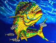 Palegic Fish Tapestries - Textiles - Caribbean Bull by Daniel Jean-Baptiste
