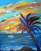 Caribbean Sea Paintings - Caribbean Calm by Barbara Petersen