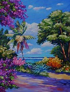Island Painting Originals - Caribbean Colours by John Clark