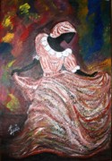 Effervescence Painting Posters - Caribbean Dancer Poster by Laura Fatta