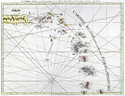 Nautical Chart Prints - Caribbean: Map, 1775 Print by Granger