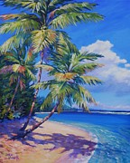 Bay Islands Painting Framed Prints - Caribbean Paradise Framed Print by John Clark