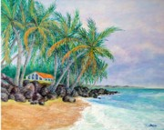 Caribbean Sea Paintings - Caribbean Retreat by Susan DeLain