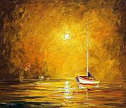 Greece Painting Originals - Caribbean Sea by Leonid Afremov