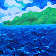 Rufus Norman Art - Caribe Seascape by Rufus Norman