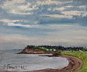 Francois Fournier Paintings - Caribou Beach Pictou NS Canada by Francois Fournier