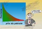 News Mixed Media - Caricature du Tourisme et le prix du petrole by OptionsClick BlogArt
