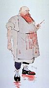 Caricatures Art - Caricature Of A Surgeon Holding by Everett