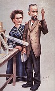 Caricature Of Pierre And Marie Print by Everett