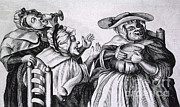 Cartoonish Art - Caricature Of Three Alcoholics, 1773 by Science Source