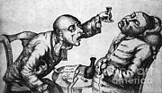 Caricature Framed Prints - Caricature Of Two Alcoholics, 1773 Framed Print by Science Source