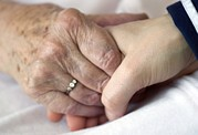 Elderly Hands Prints - Caring For The Elderly, Conceptual Image Print by Crown Copyrighthealth & Safety Laboratory