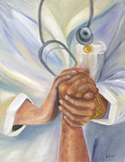 Art History Paintings - Caring by Marlyn Boyd