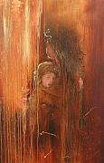 Caring Mother Paintings - Caring by Miroslaw  Chelchowski
