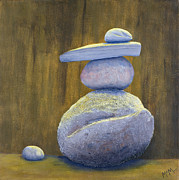 Stacked Paintings - Carins 1 balance by Garry McMichael