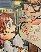 Ellie Posters - Carl and Ellie Poster by Lisa Leeman