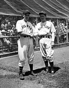 All Star Game Metal Prints - Carl Hubbell & Vernon Lefty Gomez Metal Print by Everett