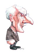 Carl Gustav Jung Photo Prints - Carl Jung, Caricature Print by Gary Brown