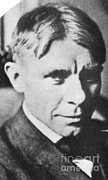 Pulitzer Framed Prints - Carl Sandburg, American Poet Framed Print by Photo Researchers