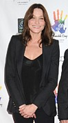 Black Jacket Photos - Carla Bruni Sarkozy At Arrivals by Everett