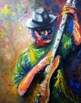 Color Image Paintings - Carlos Santana by Dica Adrian
