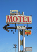Rosamond Prints - Carls Motel Print by Charlette Miller